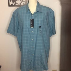 Van Heusen XL 17-17 1/2 Button up shirt Blue White